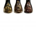 assorted shrunken heads