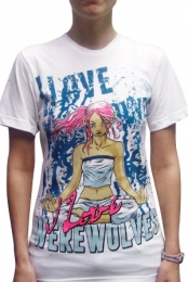girls white ilovewerewolves tshirt