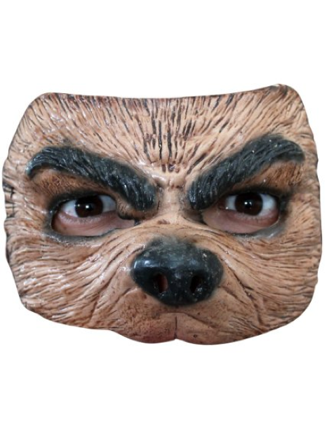 half face wolf mask