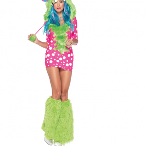 melody monster womens fur hood costume