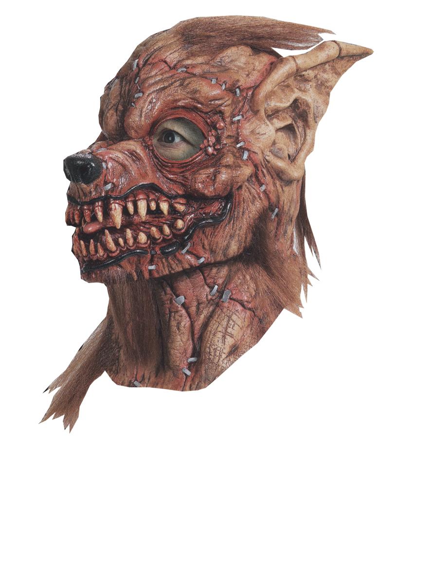 Sutured werewolf latex mask