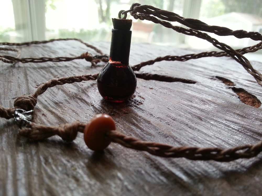 vampire blood vial necklace