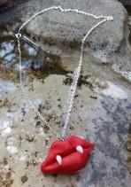 vampire kiss fang necklace