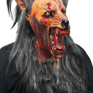 brown latex wolf mask
