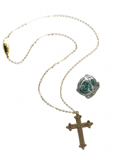 cross necklace ring
