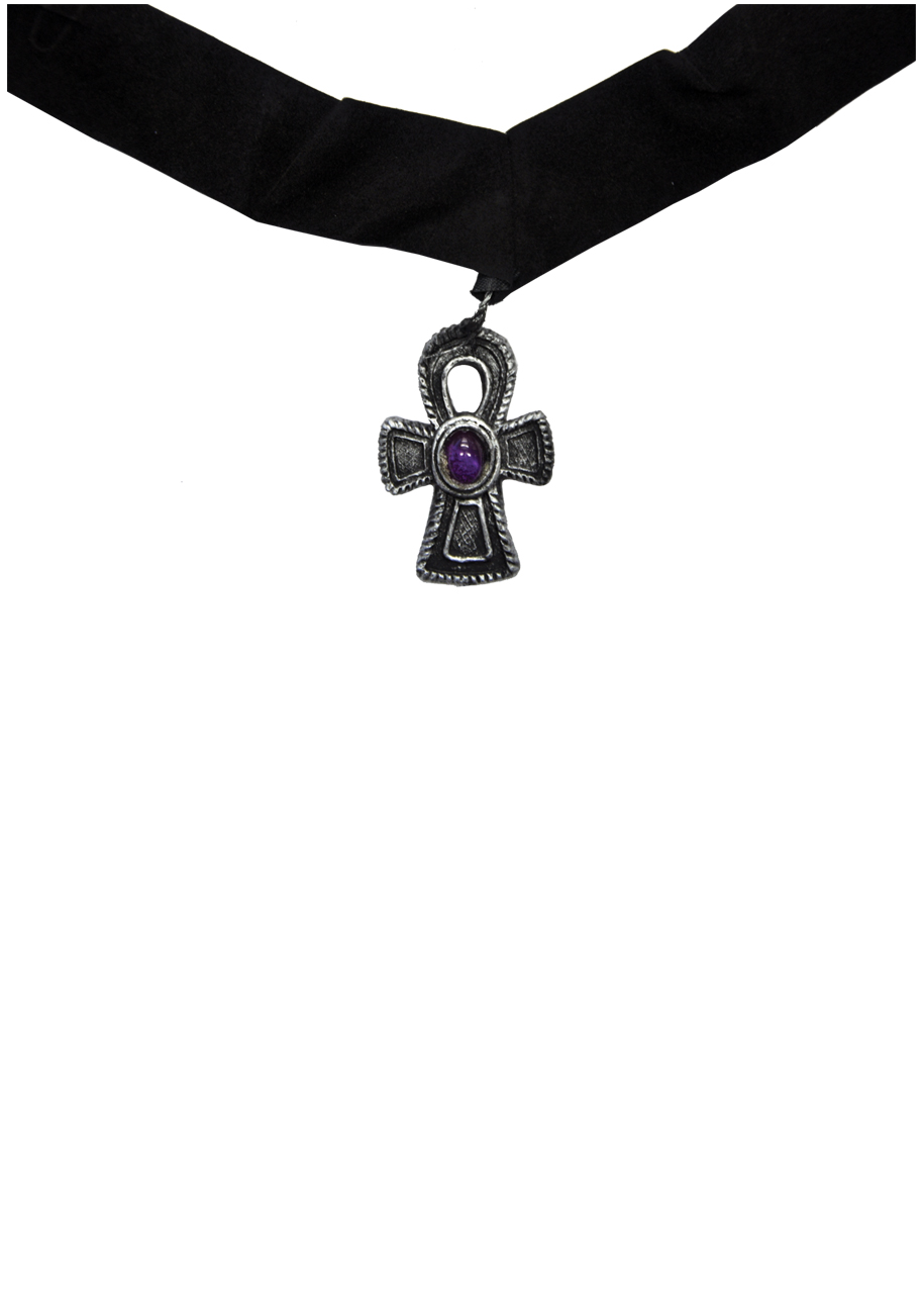 gothic cross choker necklace